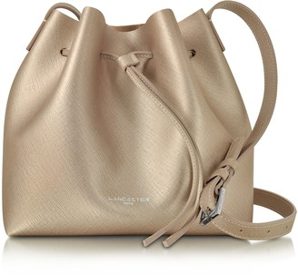 a2e7de811ef9 Lancaster Paris Pur   Element Champagne Pink Saffiano Leather Bucket Bag