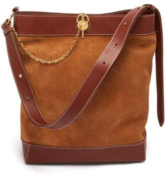 J.W.Anderson Lock Suede Tote - Womens - Brown