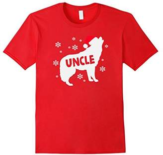 Christmas Uncle Wolf Holiday Shirt Dad Family Pack of Wolves
