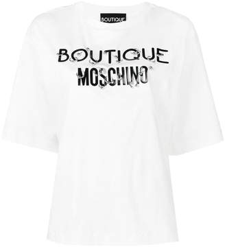 Moschino pierced logo T-shirt