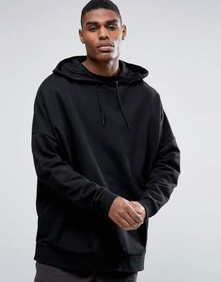 Asos Design Extreme Oversized Hoodie In Black