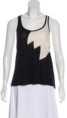 Marc by Marc Jacobs Linen Colorblock Sleeveless Top