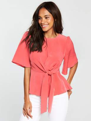 Very Knot Front Top - Coral
