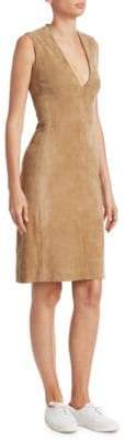 The Row Franlan Suede Mini Dress