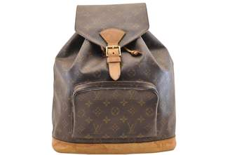 Louis Vuitton Montsouris Brown Cloth Backpacks