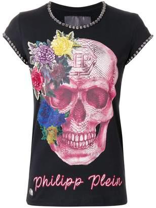 Philipp Plein studded skull print T-shirt