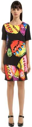 Moschino Butterfly Print Cady Dress