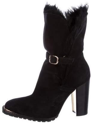 Rachel Zoe Suede Mid-Calf Boots