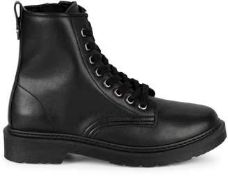 Steve Madden Flann Leather Combat Boots