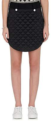 The RERACS Women's Quilted-Front Wool Miniskirt
