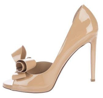 Valentino Bow-Accented d'Orsay Pumps
