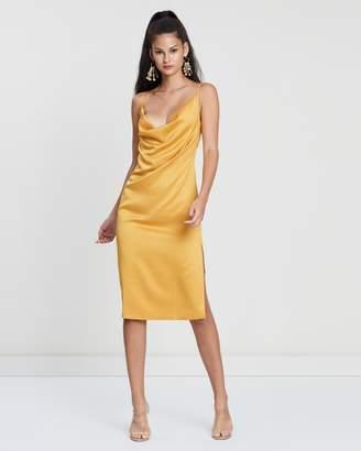 Missguided Strappy Cowl Midi Dress