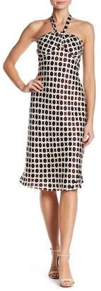 Issue New York Halter Print Silk Dress