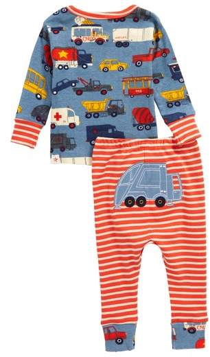 Rush Hour Organic Cotton Fitted Two-Piece Pajamas