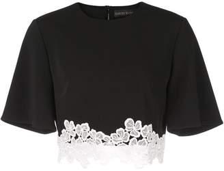 David Koma lace embellished T-shirt