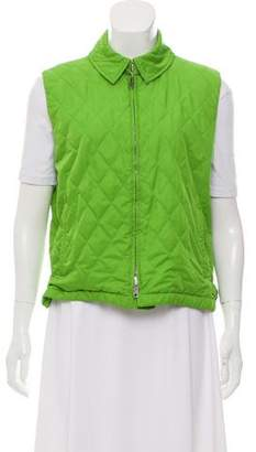 Burberry Nova Check-Lined Quilted Vest