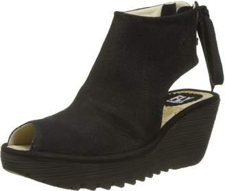 Fly London Womens Ypul 799 Black Nubuck Sandals