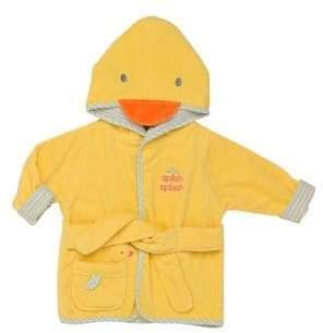 Little Me Baby's Hooded Velour Duck Bathrobe