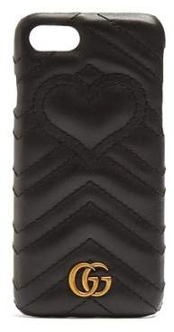 Gucci - Gg Marmont Quilted Leather Iphone® 7 Case - Womens - Black