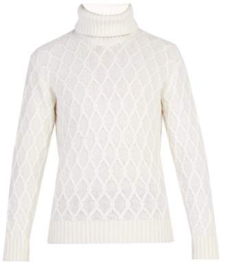 Inis Meáin Inis Meain - Trellis Cable Knit Wool Sweater - Mens - Cream