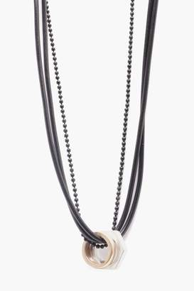 boohoo Triple Layer Necklace With Mixed Metal Detail