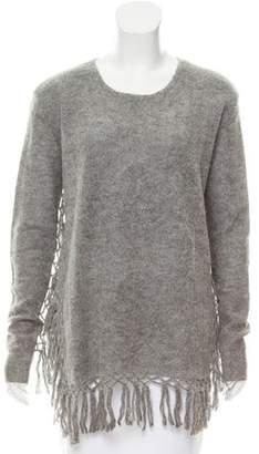 Mes Demoiselles Alpaca Fringe Trimmed Sweater