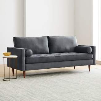 "west elm Monroe Mid-Century Tufted Seat Sofa (79"")"