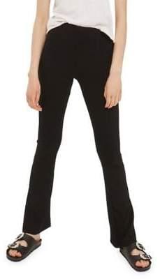 Topshop TALL Skinny Ribbed Flared Pants