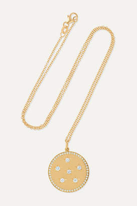 Andrea Fohrman New/ Full Moon 18-karat Gold Diamond Necklace