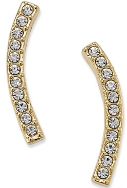 Eliot Danori Silver-Tone Pave Ear Crawler Earrings, Created for Macy's