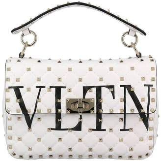 Valentino Handbag Rockstud Spike Bag In Genuine Leather With Micro Studs And Shoulder Strap