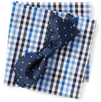 BROLETTO Munroe Dot Bow Tie & Pocket Square Set