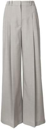 Jil Sander Navy high waist tailored wide trousers