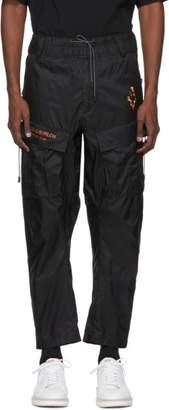 Marcelo Burlon County of Milan Black Fire Cross Cargo Pants