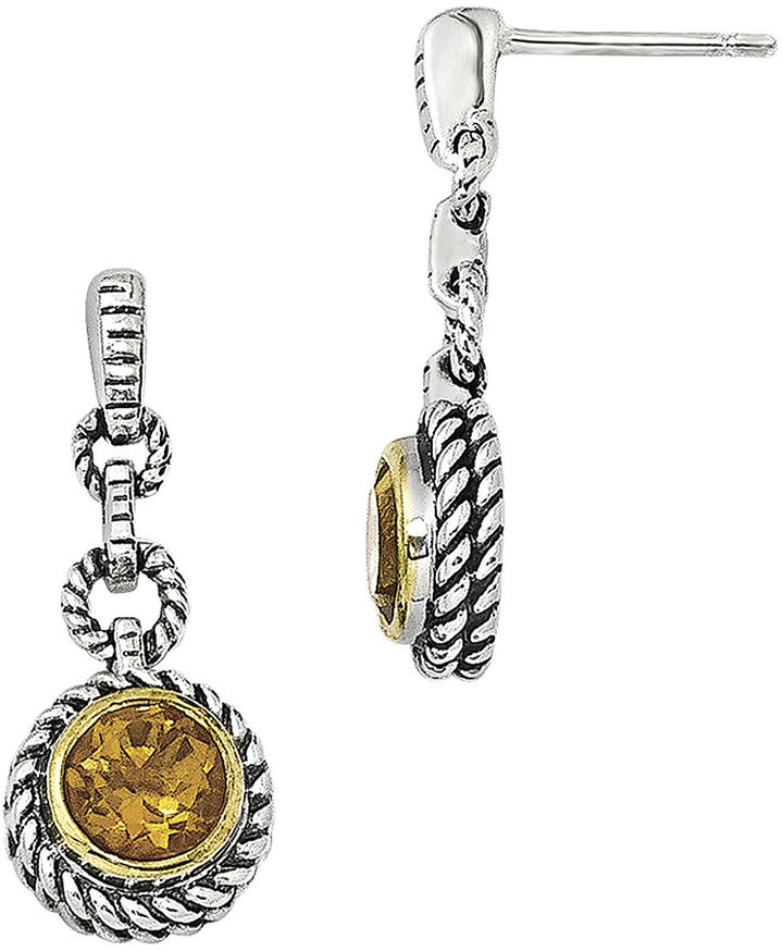 FINE JEWELRY Shey Couture Genuine Citrine Sterling Silver Drop Earrings