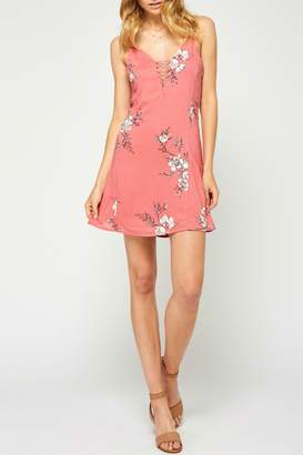 Gentle Fawn Floral Openback Dress