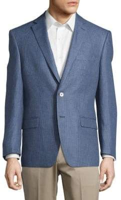 Ralph Lauren Linen Glen Plaid Blazer