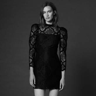 Sandro Lace dress with gigot sleeves