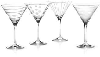 "Mikasa (ミカサ) - Mikasa ""Clear Cheers"" Martini Glasses, Set Of 4"