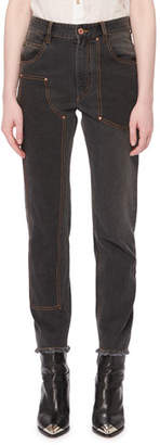 Isabel Marant Orrick High-Rise Skinny-Leg Jeans w/ Fray Hem