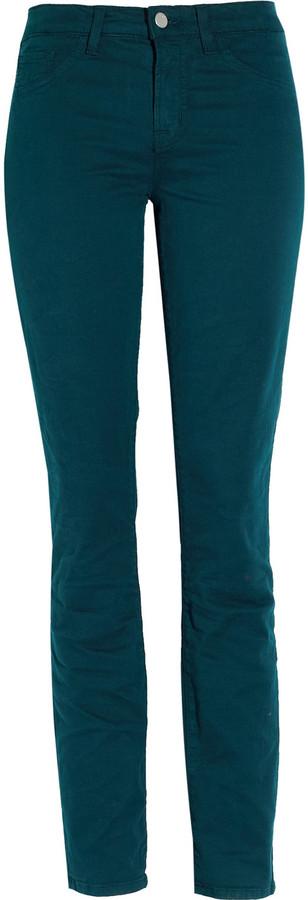 J Brand Denim 811 low-rise twill skinny jeans