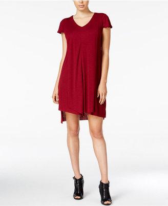 kensie Flutter-Sleeve Asymmetrical-Hem Dress $79 thestylecure.com