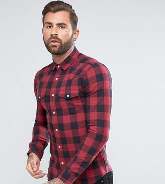 Buffalo David Bitton Asos Design ASOS DESIGN Tall skinny western check shirt