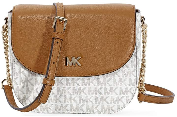 Michael Kors Mott Logo Dome Crossbody- Vanilla/ Acorn - ONE COLOR - STYLE