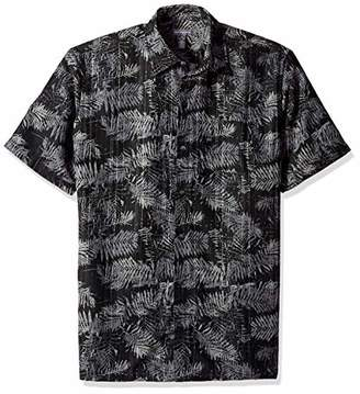 Van Heusen Men's Tall Air Tropical Print Short Sleeve Button Down Shirt