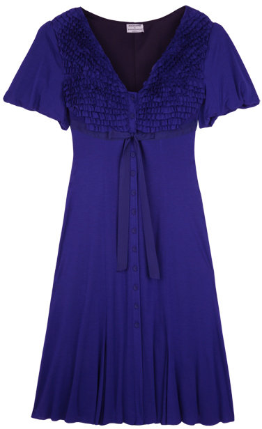 Philosophy di Alberta Ferretti Indigo Button Through Frilled Dress