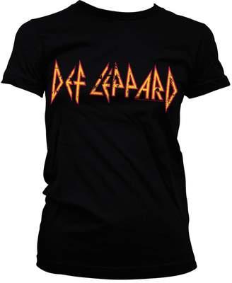 Def Leppard Distressed Logo Official Women T-Shirt