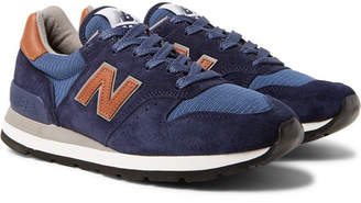 New Balance 995 Suede, Mesh and Leather Sneakers