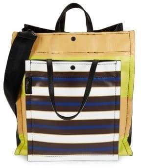 3.1 Phillip Lim Accordion Leather Shopper Bag