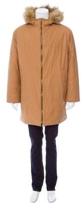 Prada Fur-Trimmed Puffer Coat